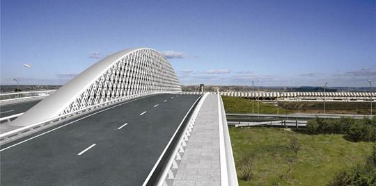Comienzan las obras del Puente Singular entre Valdebebas y la T-4